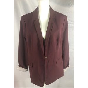 NWT. The Limited maroon blazer. Size 18 TALL.